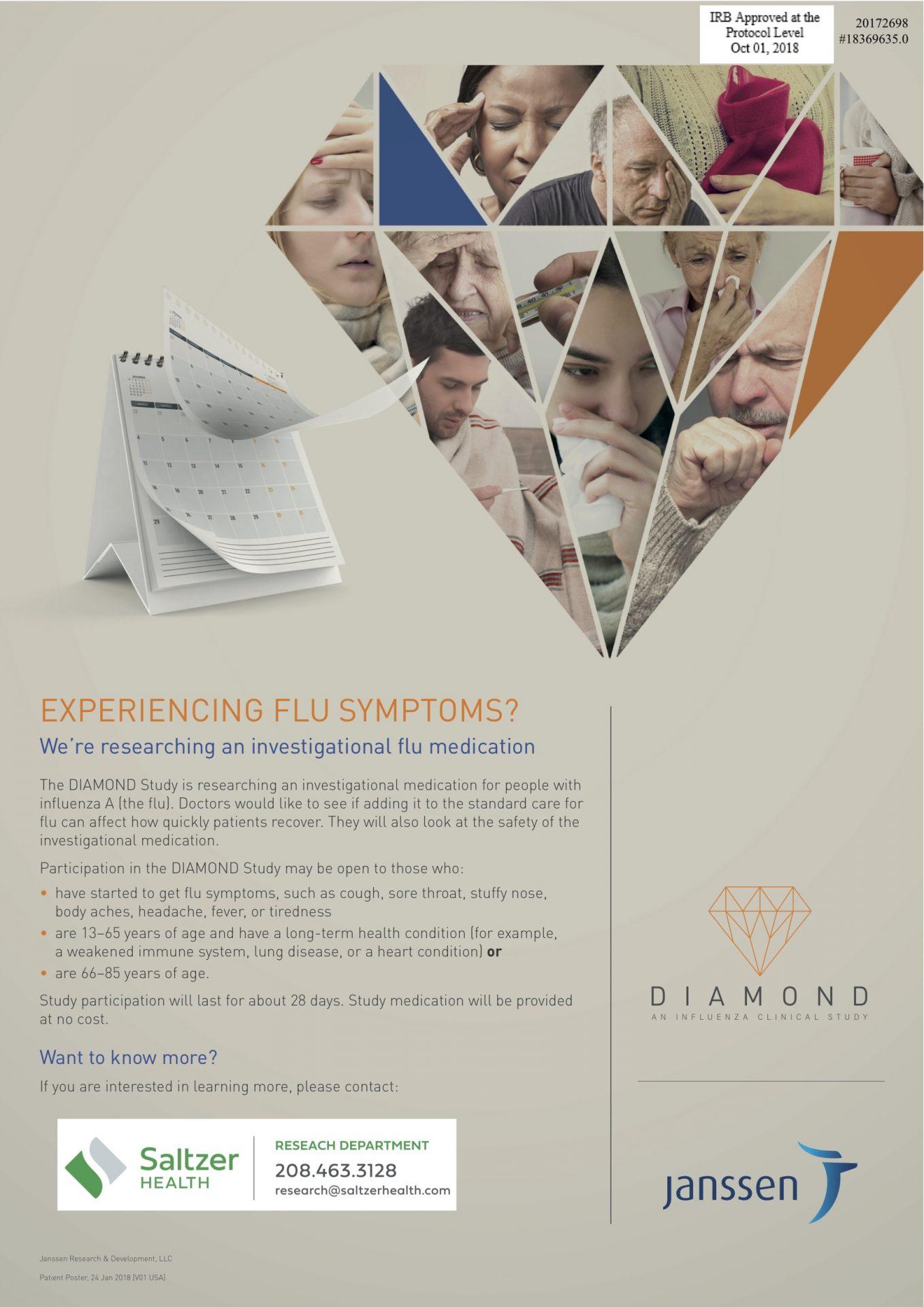Diamond Infleunza Study poster